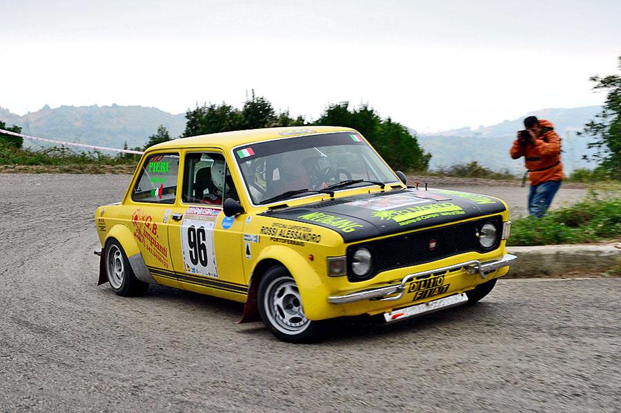 Riccardo Galullo  Gianluigi Pieri (Team Bassano  Fiat 128 Rally # 96)